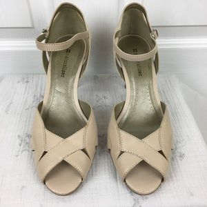 Nude Naturalizer peep toe ankle strap sandals